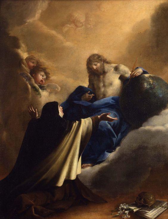 .:. Bartolomeo Guidobono  L'apparizione di Cristo a Santa Teresa d'Avila 1690 circa olio su tela, cm 117.5 x 92  Torino, Palazzo Madama - Museo Civico d'Arte Antica