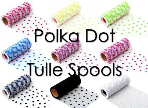 Polka dot tulle... I want!!! Cute to use on tutus!!!!