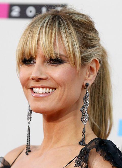 Heidi Klum Hat Kurze Haare Gala De Haarschonheit Lange Haare Mit Pony Haar Schonheit