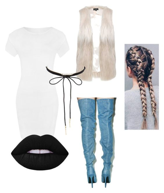"""""""Fur, Braids, & Denim"""" by jaynuny ❤ liked on Polyvore featuring WearAll, Privileged, Lipsy, Charlotte Russe and Lime Crime"""