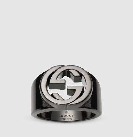Gucci silver ring, interlocking G