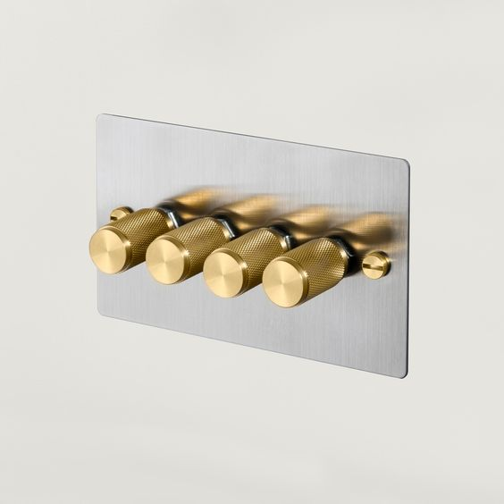 rethinking these. i love them. come in 1-4 dimmers. 4 is GBP 90. 1 is 30 GBP. 4G DIMMER / all finishes | Buster + Punch