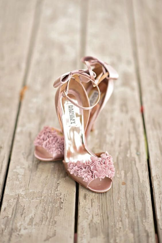 Refined Dusty Rose And Navy Blue Wedding Color Ideas Pink Wedding Shoes Wedding Shoes Beautiful Wedding Shoes