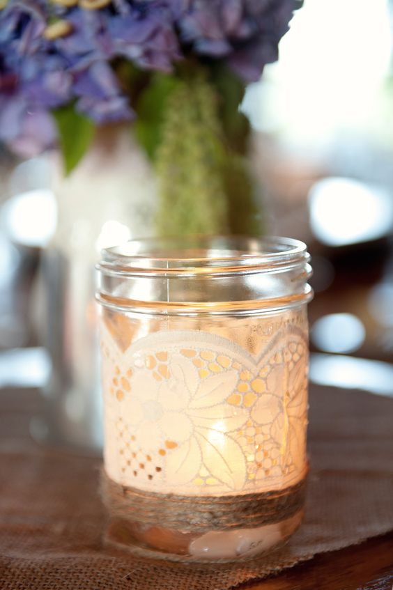 Mason-jar candle