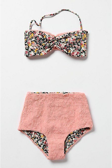 High waisted swim suit. So cute