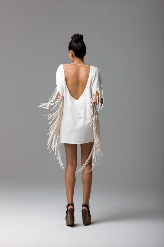 Fringe for days! #caciqueboutique #fringebinge #whitedress: