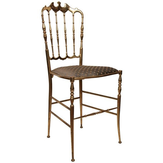 Charmant Antique Italian Bronze Chiavari Chair | 1stdibs.com