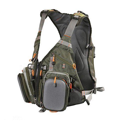 Fly Fishing Backpack Adjustable Size Vest Combo-D77