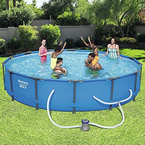 Bestway 56597e Pro Max Above Ground 14ft X 33in Steel Frame Round Pool Set No Tools Required 14 X 33 Blue In 2020 Best Above Ground Pool In Ground Pools Deep Above Ground Pools