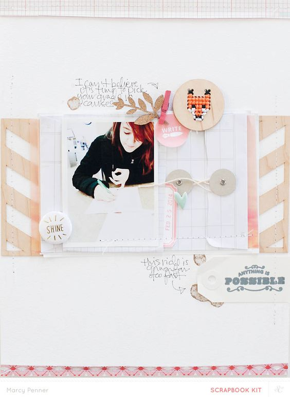 #papercraft #scrapbook #layout.  Anything is Possible  by @marcypenner with @Studio_Calico Bluegrass Farm kits: