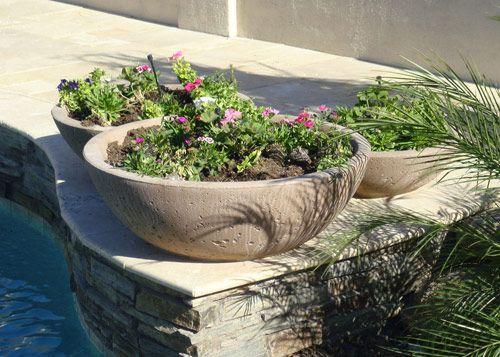 Concrete Wok Pot Planters Garden Bowls Garden Planters Concrete Garden Garden Pottery