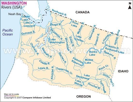 US River Basins Longest US Rivers Pinterest Rivers - Map of the us rivers and lakes