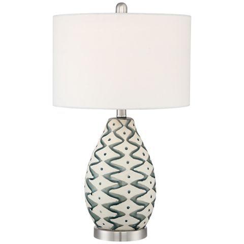 Jones Painted Ceramic Table Lamp 53x63 Lamps Plus In 2020 Table Lamp Ceramic Table Lamps Ceramic Painting