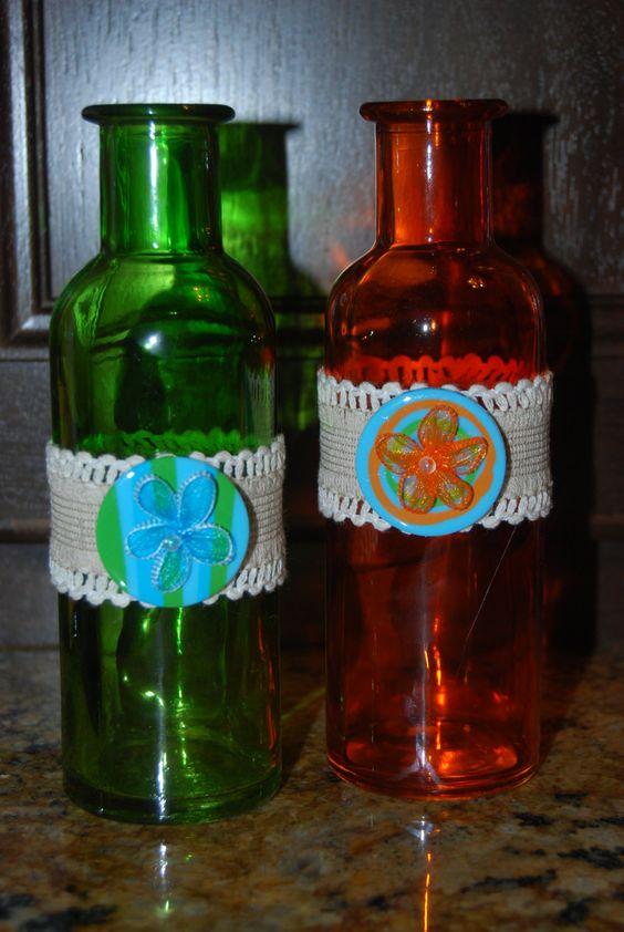Decorative bottle by SugarShakDesigns on Etsy