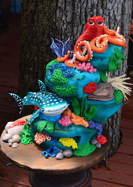 Finding Dory Collaboration  on Cake Central