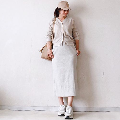 ユニクロの新作 リブロングタイトスカート は細見え抜群 おしゃれさんに学ぶ着回しコーデ5つ Isuta イスタ おしゃれ かわいい しあわせ ファッション レディース ファッション 新作
