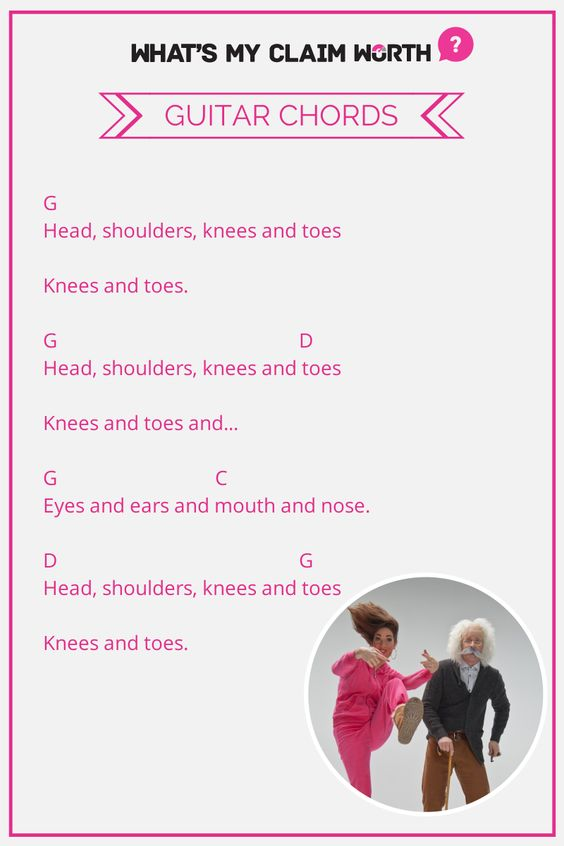Head Shoulders Knees And Toes Guitar Chords Chords Music Guitar