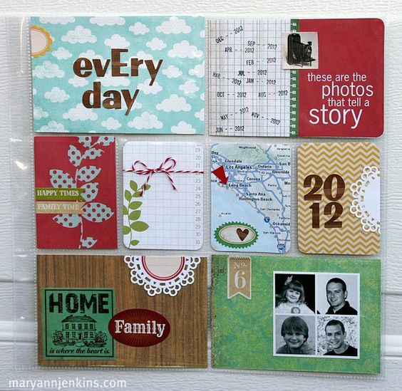 love the quad collage in the lower right: Project Life Scrapbooking, Scrapbook Layouts, Life Inspiration, Life Idea, 1Project Life
