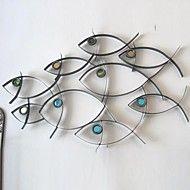 arte da parede parede de metal decoração escola d... – BRL R$ 255,23