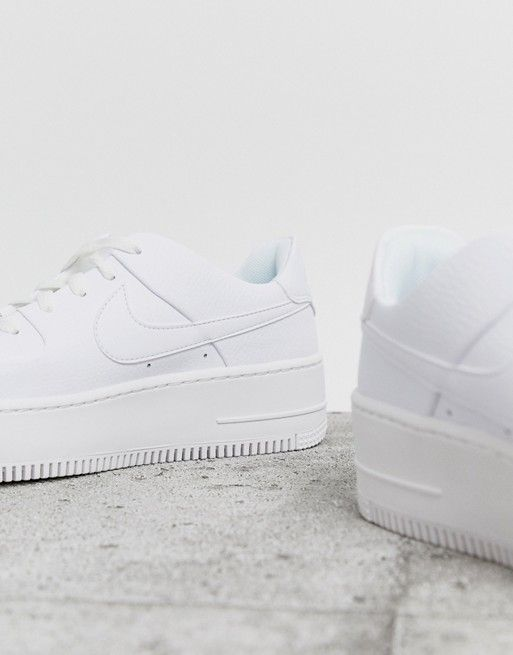 White Air Force 1 Sage Low Trainers