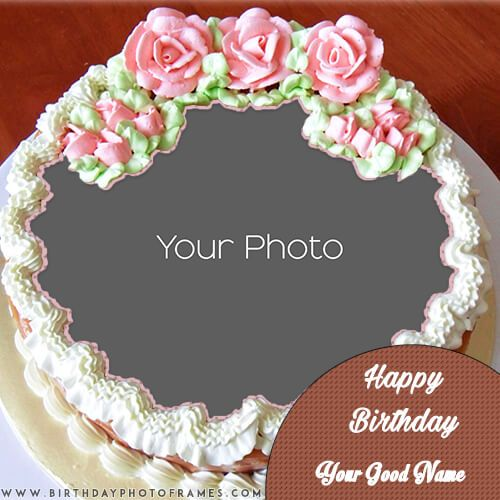 Prime Beautiful Birthday Cake With Name And Photo Edit Happy Birthday Personalised Birthday Cards Veneteletsinfo