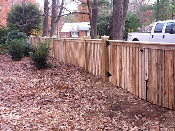 Wood Fences Fence And Fence Styles On Pinterest