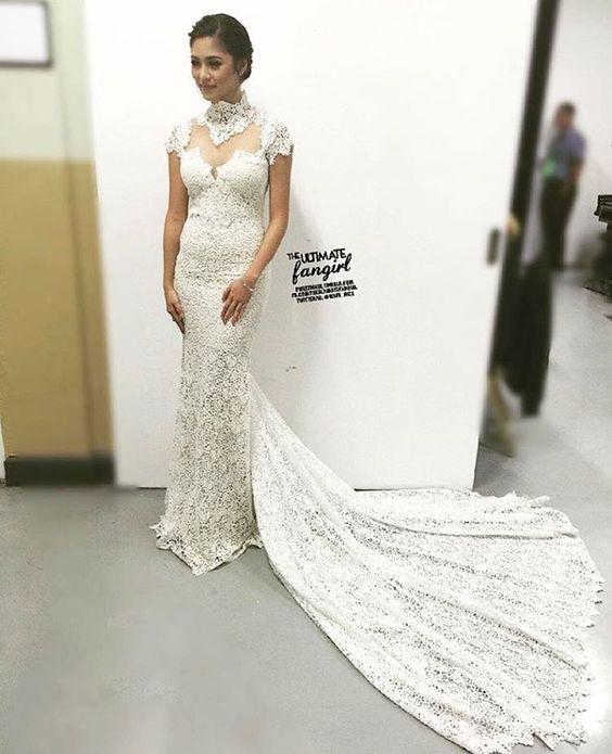 """""""ethereal bride vibes!  Reposting @mave_nice: Gorgeous @chinitaprincess ✨ #32ndStarAwardsForMovies #KimChiu #XianLim #KimXi #KimXianHostStarAwards"""""""