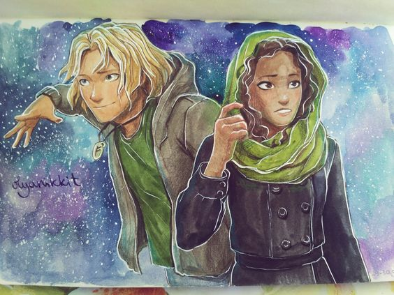 What a beautiful piece of Magnus Chase fan art! I love it! They fit so good to their description! <3: