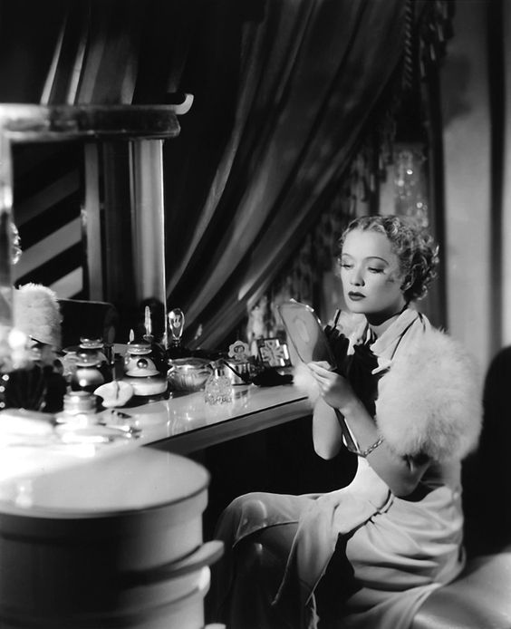Miriam Hopkins and her vanity.