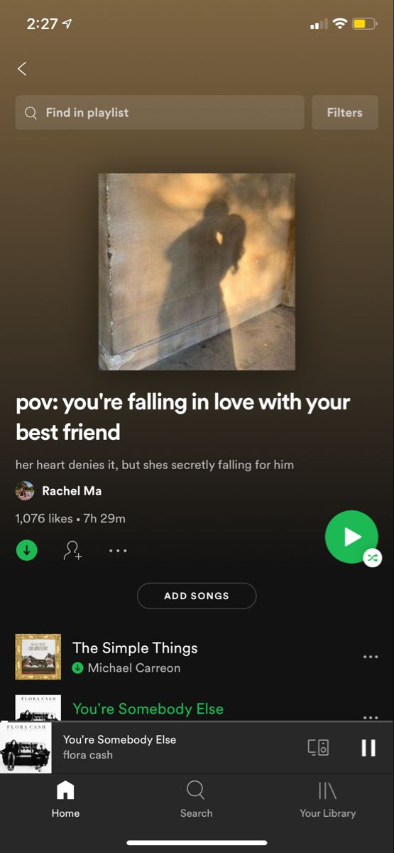 Your falling for songs friend about 10 Hard