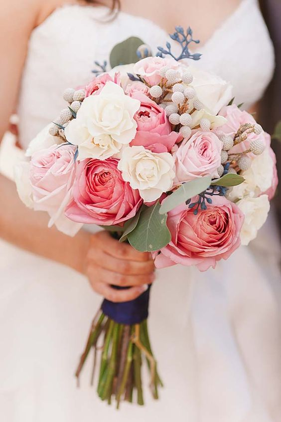 Wedding Bouquet Pink Blue : Soft pink wedding bouquets to fall in love with