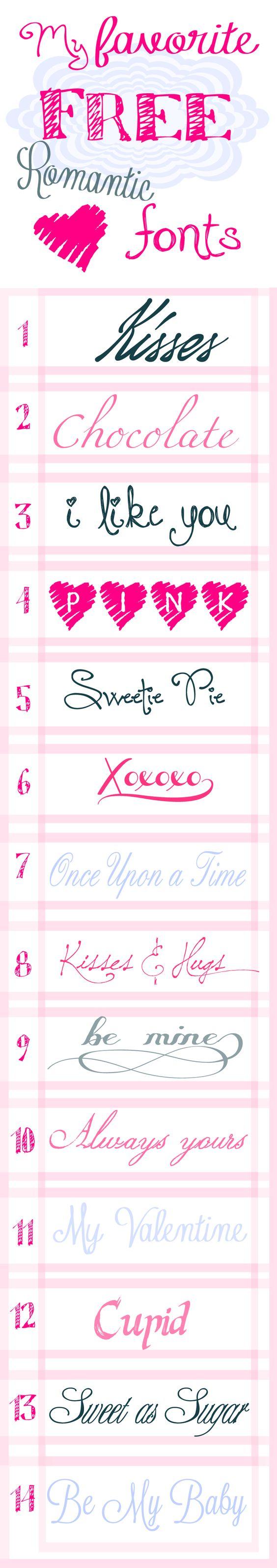 valentine number fonts