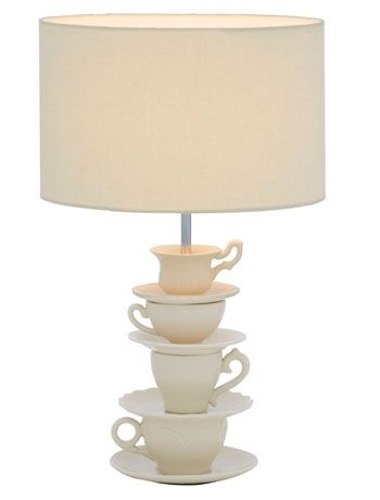 Quirky - would be cool with vintage cups and saucers (maybe garage sale or antique shop finds?)
