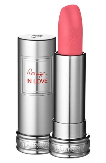 Lancôme 'Rouge in Love' Lipstick | Nordstrom rose flaneuse - lasts longer than Mac but a lot dryer on the lips!