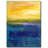 """Found it at Wayfair - """"Gold and Pink Abstract"""" by Michelle Calkins Painting Print on Wrapped Canvas"""