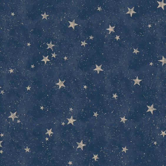 Cwv Crown Wallpaper Starlight Stars Navy Blue M1490 Gold Metallic Wallpaper Star Wallpaper Navy Wallpaper