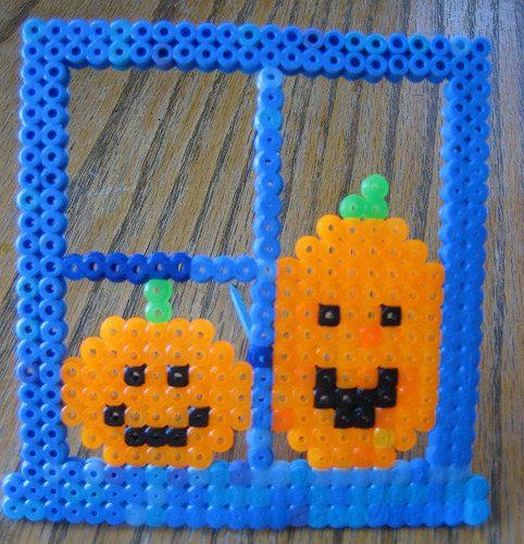 Pumpkins Perler Bead Pattern