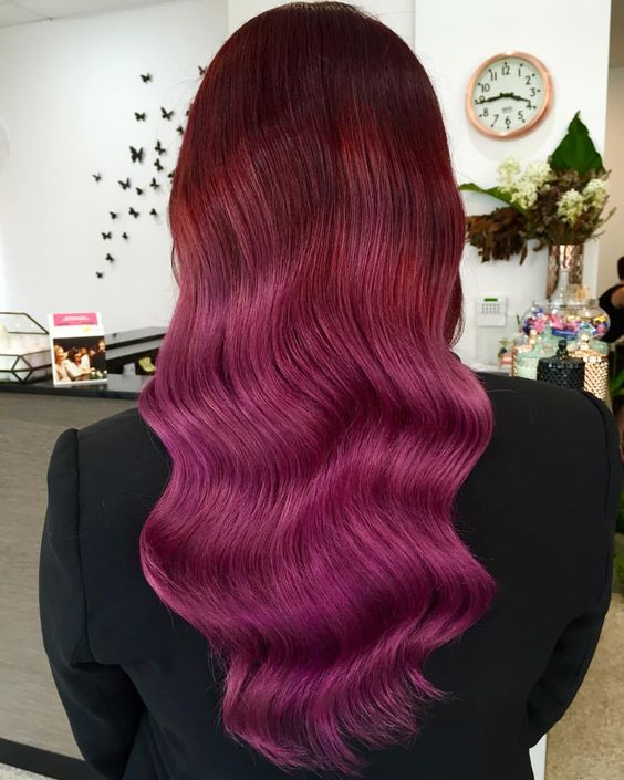 Gorgeous Red berry blend to finish off my week ✖️ #hairbytashc #hairandharlow @hairandharlow @evohair @haircareaust