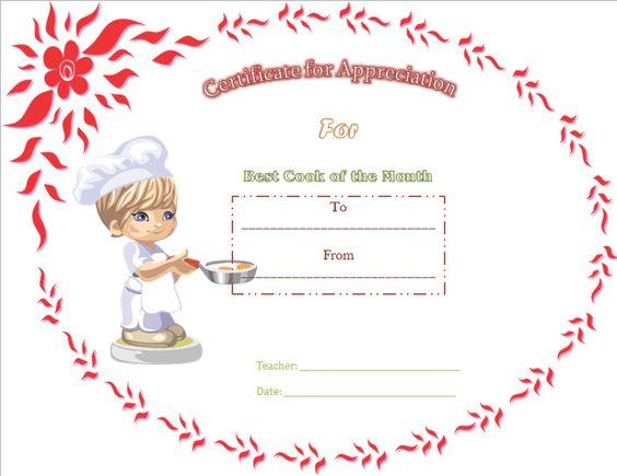 Best Cooking Appreciation Certificate Template – Best Certificate Templates