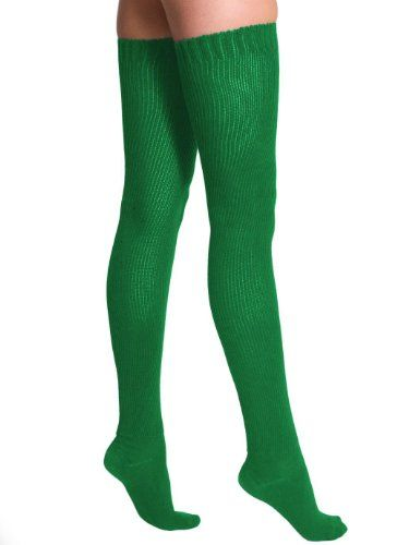Amazon.com: American Apparel Cotton Solid Thigh-High Socks Kelly Green: Clothing
