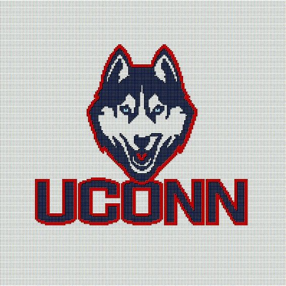 $5 - UConn - Crochet Afghan Pattern - University of Connecticut Huskies by AngelicCrochetDesign on Etsy