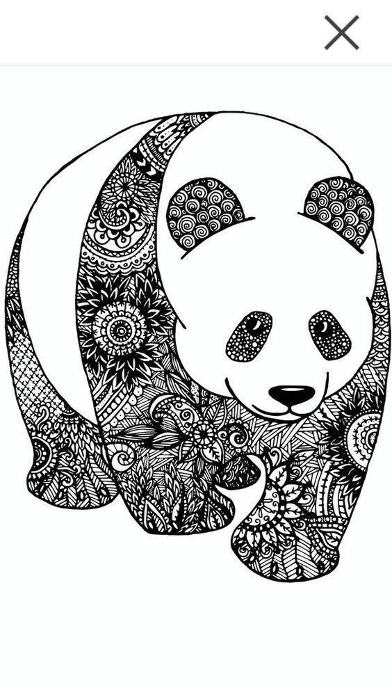 Panda Zentangle Dibujos