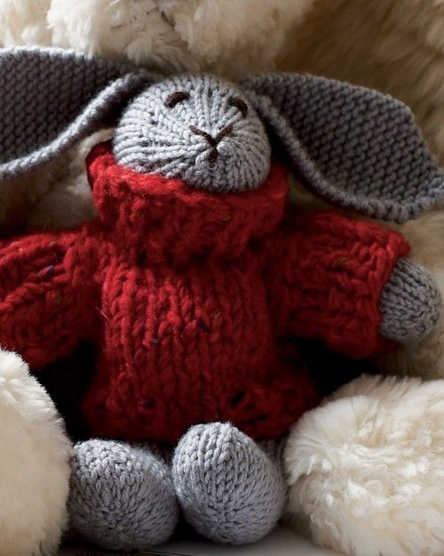 Rabbit Sweater Knitting Pattern : Rabbit with sweater pattern knit pinterest