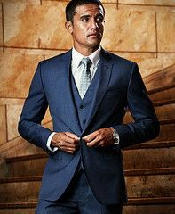 Shoreditch - Petrol Blue Wool 3 Piece Suit Super 120s | Suits