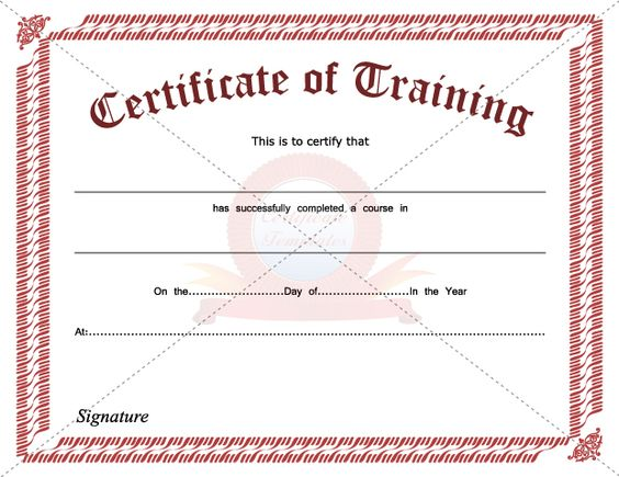 Doc400309 Training Course Certificate Template Training – Training Course Certificate Template