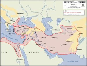 Maps of Ancient Greece: Persian Empire Map