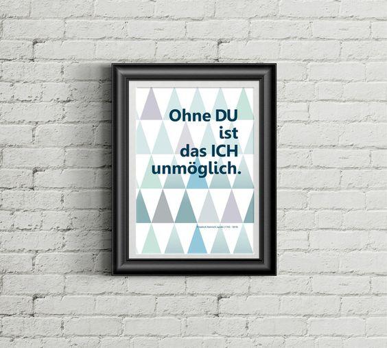 """Spruchdruck  """"Ohne Du ist..."""" von mind on the paper auf DaWanda.com"""