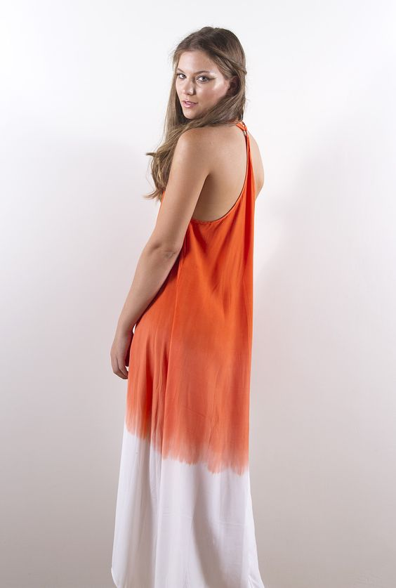 Relax T-Back Maxi - Tangerine by House of S K Y E