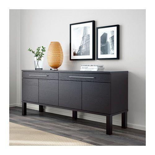 BJURSTA Aparador - negro-marrón - IKEA