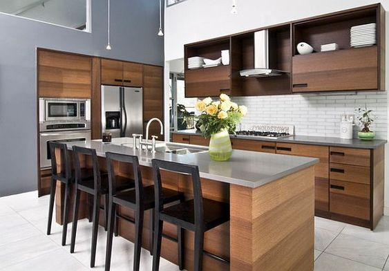 K7 Wood Kitchen Ideas  Modern For Open Living Areas Nápady do - kche schwarz matt